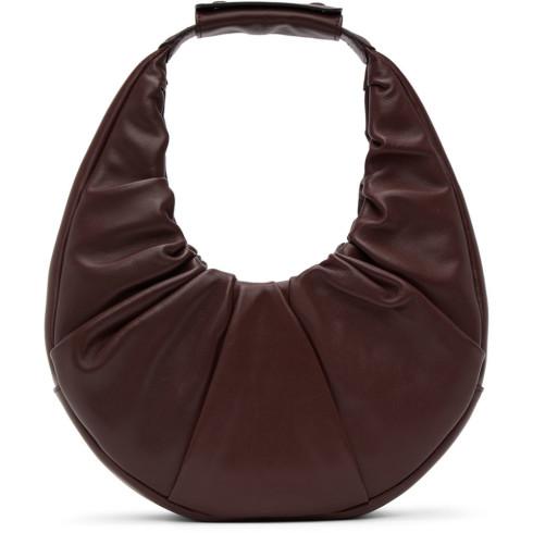 Staud Burgundy Soft Moon Bag