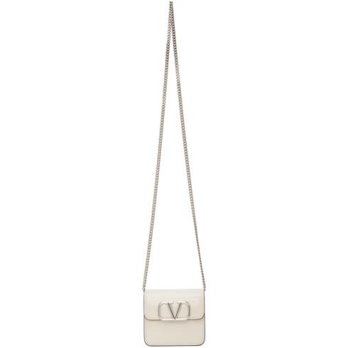 Valentino White Valentino Garavani VLogo Wallet Bag