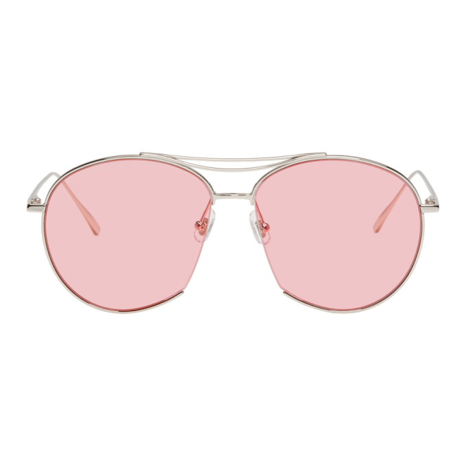 Gentle Monster Silver & Pink Jumping Jack Sunglasses