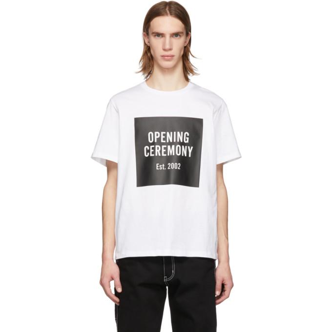 OPENING CEREMONY OPENING CEREMONY WHITE BOX LOGO T-SHIRT