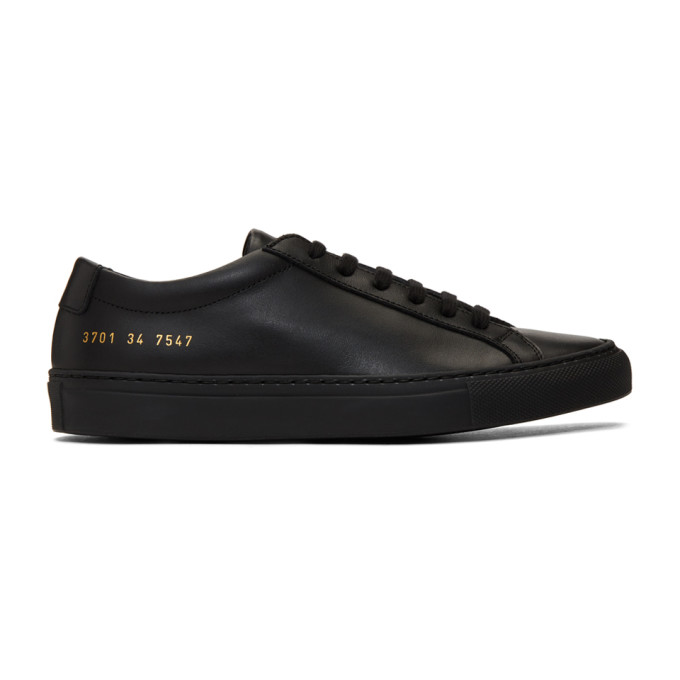 Common Projects Original Achilles Nappa Leather Sneakers, Black In 7547-Black