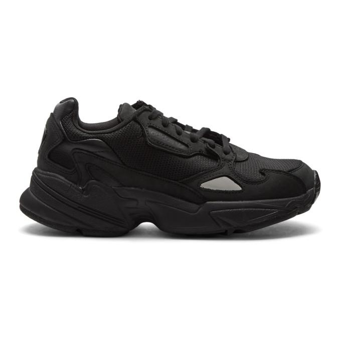 Adidas Originals Black Falcon Sneakers