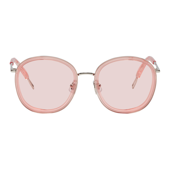 Gentle Monster GENTLE MONSTER PINK AND SILVER OLLIE SUNGLASSES