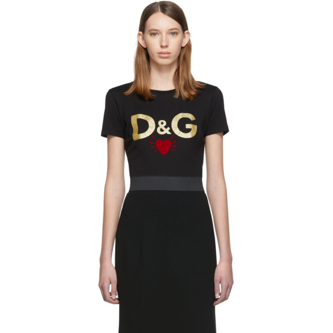 Dolce & Gabbana Jersey T-Shirt With Printed Logo In N0000