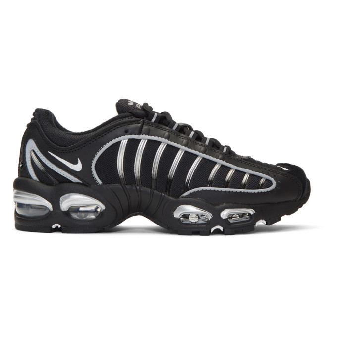 Nike Air Max Tailwind Iv Mesh And Leather Sneakers In 003Blksilv