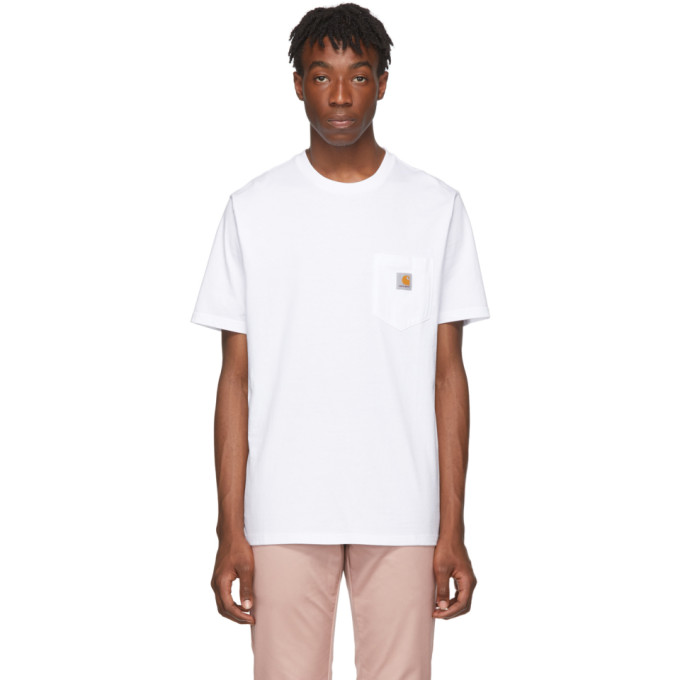 Carhartt Logo-appliquéd Cotton-jersey T-shirt In 0200 Wht