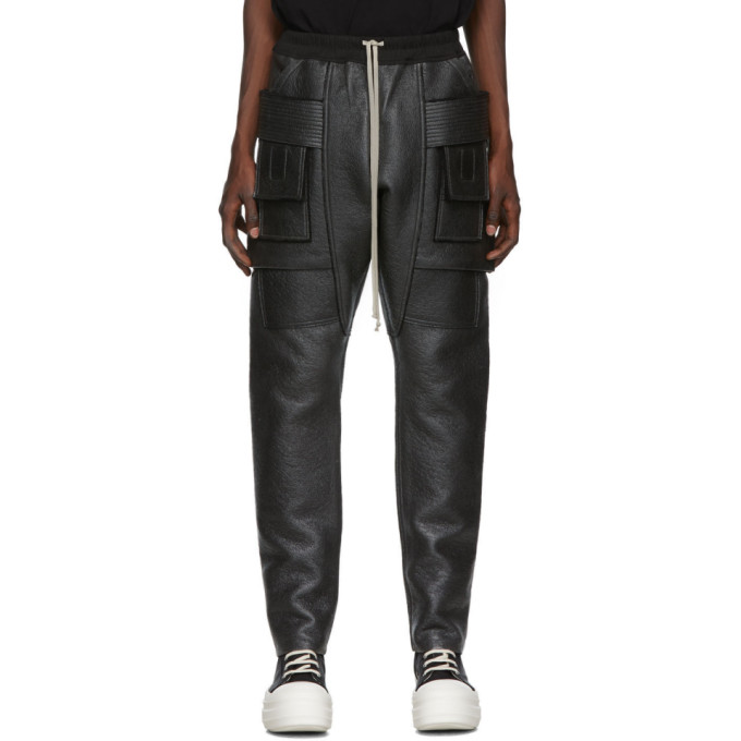 Rick Owens Drkshdw Creatch Cargo Pants In 09 Blk