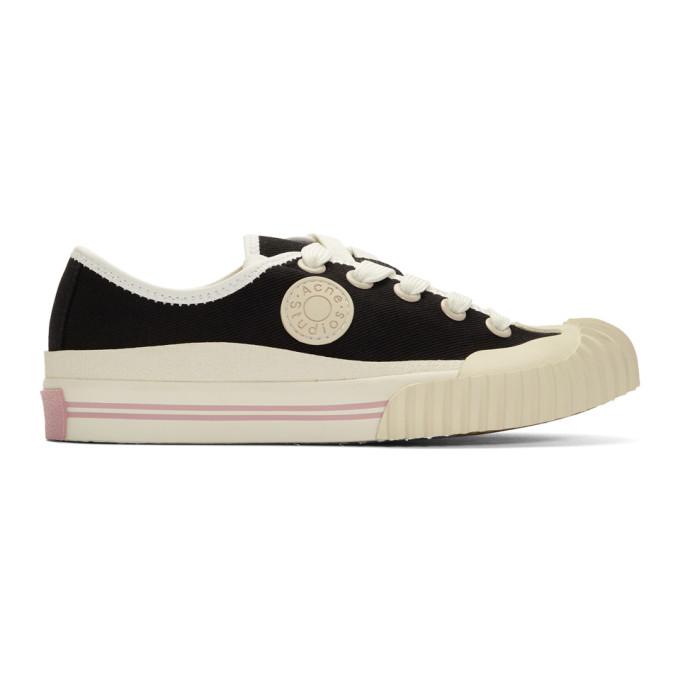 Acne Studios Black Blå Konst Logo Patch Sneakers