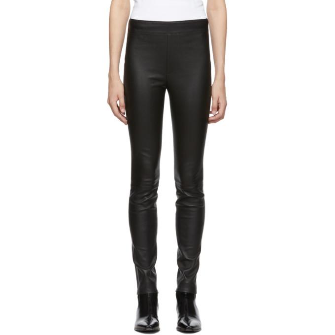 Helmut Lang Skinny Stretch-Leather Leggings In Black