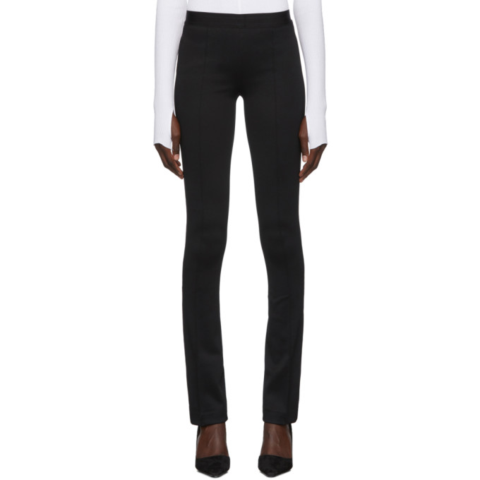 Helmut Lang Full-Length Flare Ponte Legging Pants In Black
