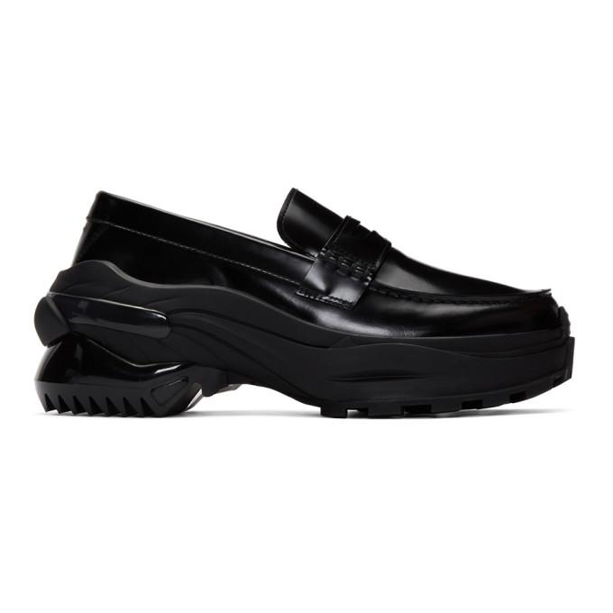 Maison Margiela Chunky Cross Loafers In T8013 Black