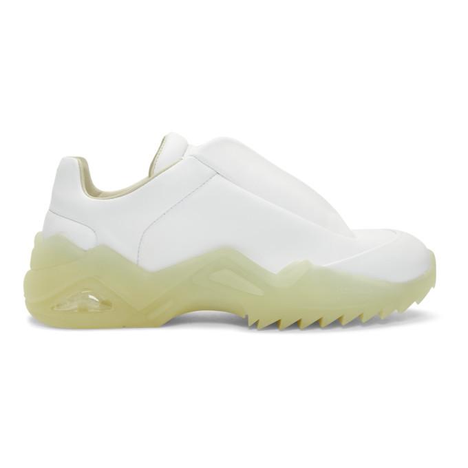 Maison Margiela White Leather New 22 Future Sneakers In T1003 White