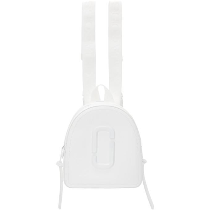 Marc Jacobs Backpacks MARC JACOBS WHITE DTM PACK SHOT BACKPACK