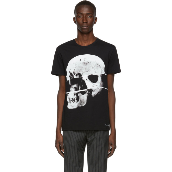 Alexander Mcqueen Skull-Print Cotton-Jersey T-Shirt In 0901 Blkmix