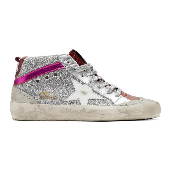 Golden Goose Mid Star Glitter Sneakers