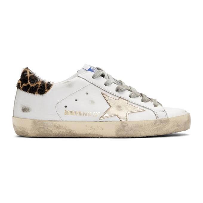 And Gold Giraffe Superstar Sneakers
