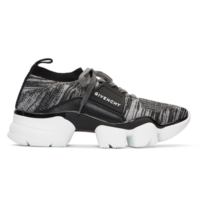 Givenchy Jaw Leather And Nylon Sneakers In 020 Grey Black
