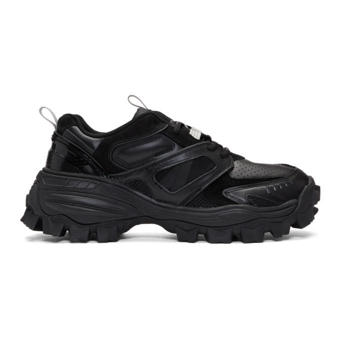 Juun.j Chunk Panelled Sneakers In Black