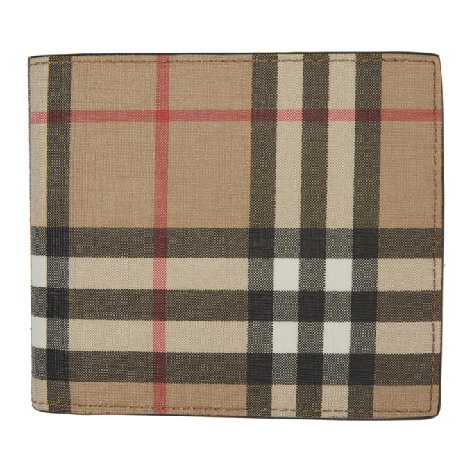 Burberry Men's Genuine Leather Wallet Credit Card Bifold  Hipfold In Archive Bei