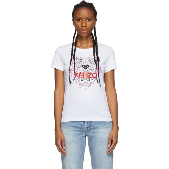 Kenzo Tiger Regular-Fit Cotton-Jersey T-Shirt In 01 White