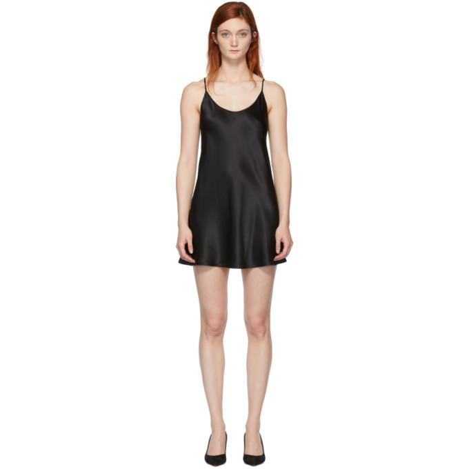 LA PERLA LA PERLA BLACK SILK SHORT SLIP DRESS