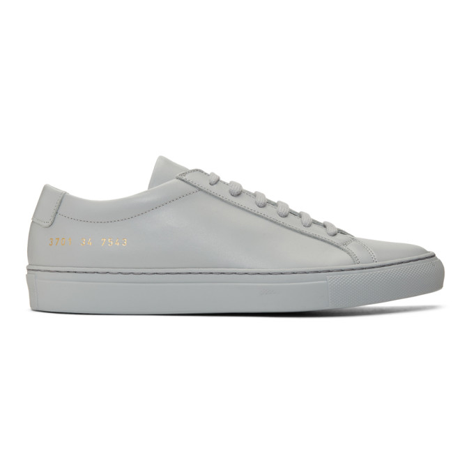 Common Projects Bball Low Grey Leather