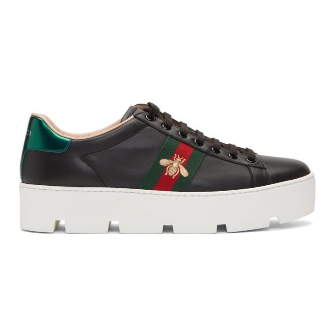 Ace Embroidered Platform Sneaker