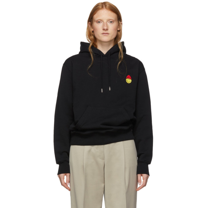 Ami Alexandre Mattiussi Hoodie With Patch Smiley In 001 Black