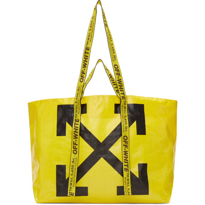 Off-White New Commercial Tote Bag, Yellow/Black In 6010 Yellow Black