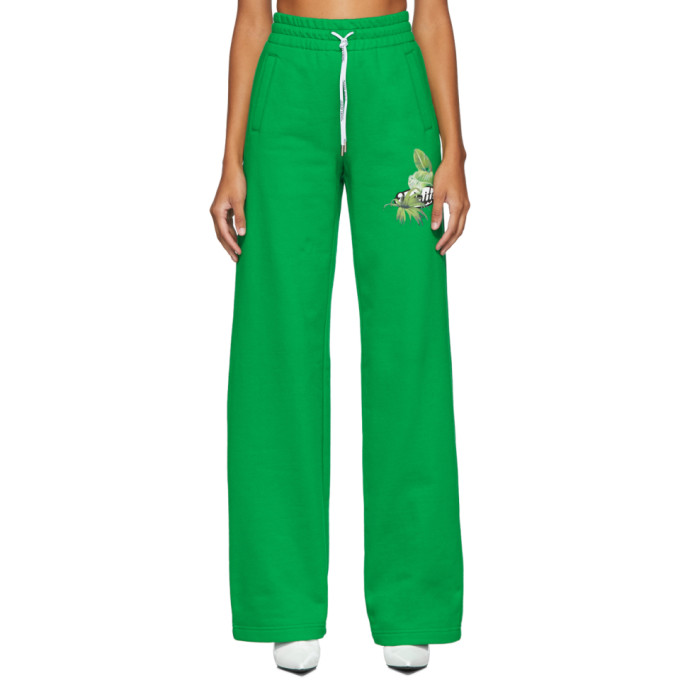 Off-White Track Pant In Green