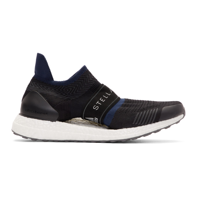 ADIDAS BY STELLA MCCARTNEY ADIDAS BY STELLA MCCARTNEY BLACK AND NAVY PARLEY ULTRABOOST X 3D SNEAKERS