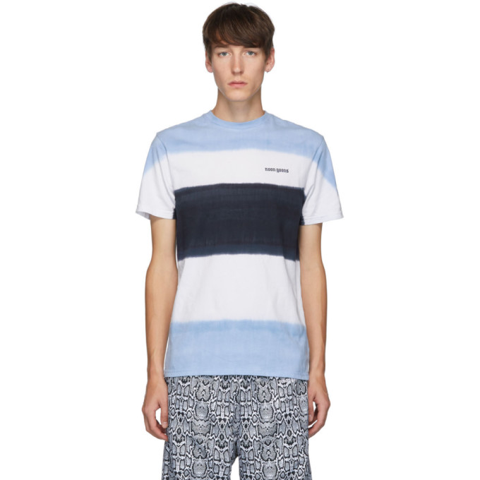 Noon Goons Max Tie-dye Cotton T-shirt In Blue/white/