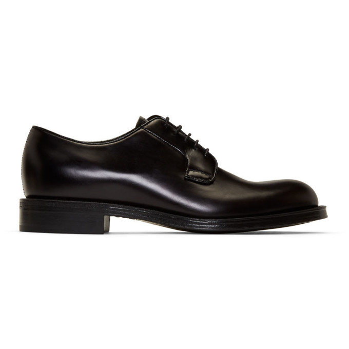 Prada Men's Classic Leather Lace Up Laced Formal Shoes Derby In F0002 Nero