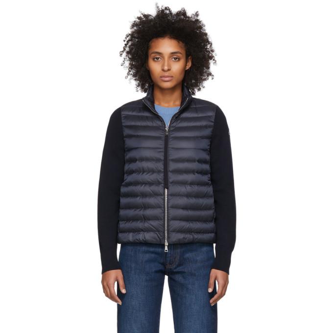 Moncler Women's Down Knit & Puffer Combo Jacket In Blue