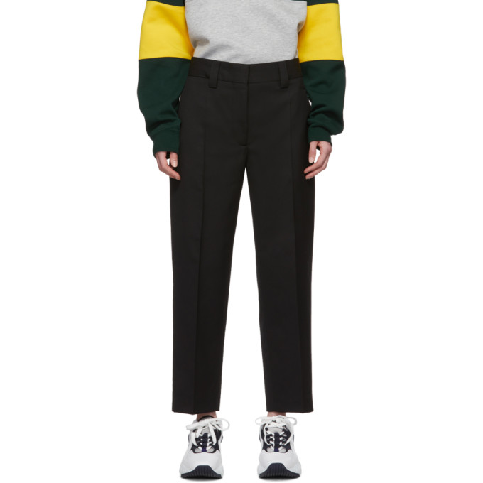 Acne Studios Str02 Cropped Grain-de-poudre Trousers In Black