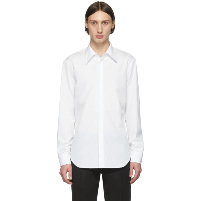 Maison Margiela Concealed Fastening Shirt In 100 White