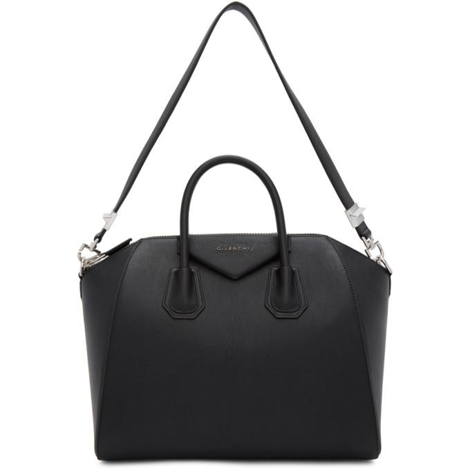 Givenchy Black Medium Antigona Bag In 001 Black