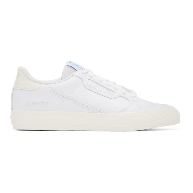 Adidas Originals Men's Continental Vulc X Unity Canvas & Leather Sneakers In Ftwr White