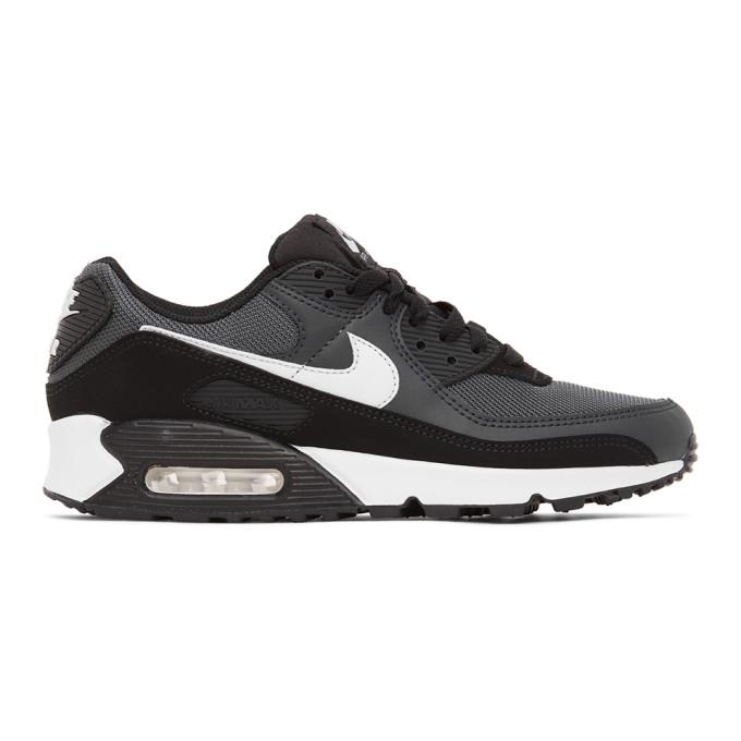 Nike Black & Grey Air Max 90 Sneakers In 002irongrey