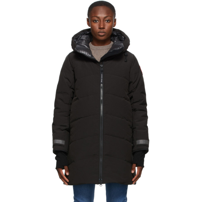 Canada Goose Merritt Hooded Quilted Shell Down Coat In 61 Black