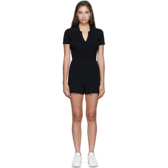 Live The Process Black Rib Seamless Bodysuit In A1 Black