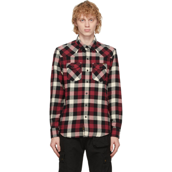 Belstaff Western Moto Check Shirt In 1199off Wh