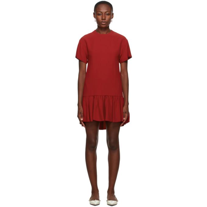 Red Valentino Satin Dress In D05 Dpred