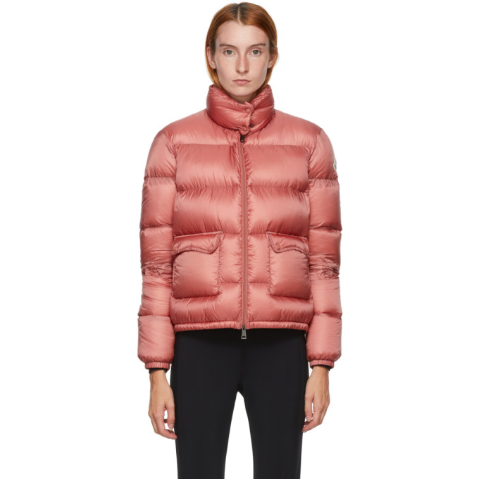 Moncler Lannic Water Resistant Lightweight Down Puffer Jacket In 544 Dkpink