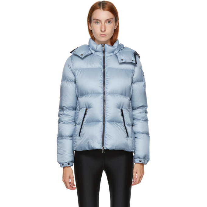 Moncler Fourmi Water Resistant Hooded Down Puffer Coat In 715 Blue