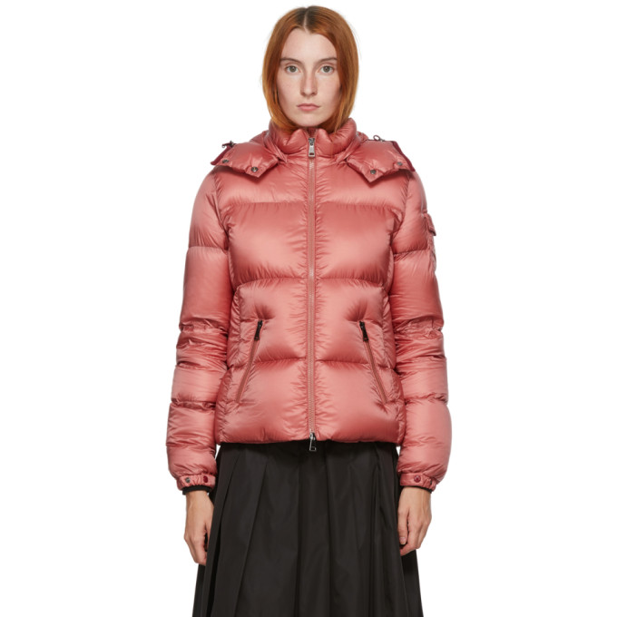 Moncler Fourmi Down Jacket In Antique Pink In 544 Dkpink
