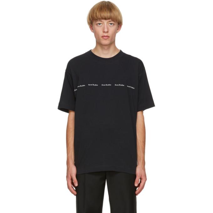 Acne Studios Logo Print T-shirt Black