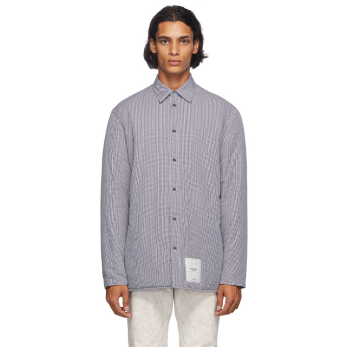 Maison Margiela Micro Check New Relaxed Shirt In 001f Blkmic