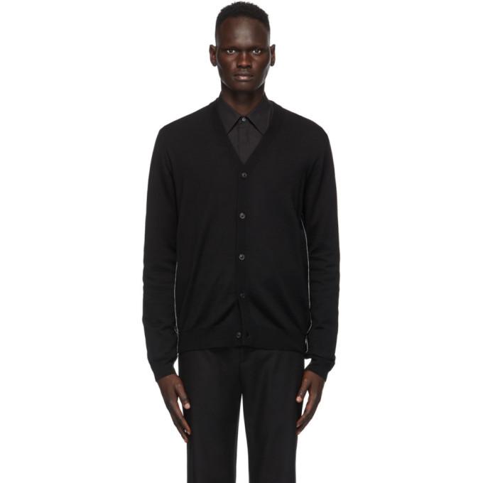 Maison Margiela Knitted Cardigan In 900 Black