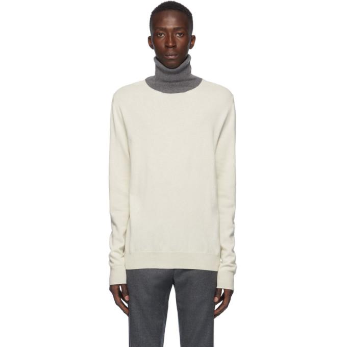Maison Margiela Cashmere Blend Turtleneck Sweater In 001f Whblgr